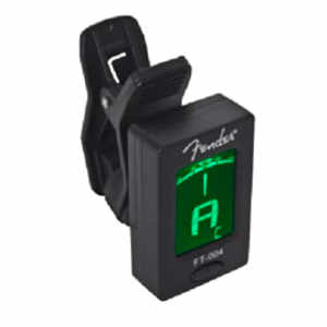 Fender FT-004 Chromatic Clip Tuner Black