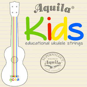 Aquila Kids Multi Color Educational Ukulele Saiten