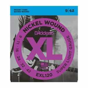 D'Addario EXL-120 3D Nickel E-Gitarren Saiten 009-042