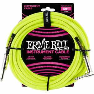 Ernie Ball EB6080 Instrumentenkabel 3m gelb