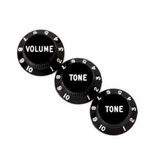 Fender Volumen Tone Knob Set black