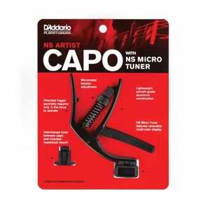 D'Addario Capodaster mit Tuner PW-CP-10NSM