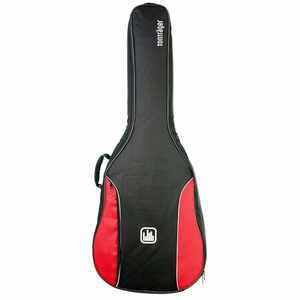 Tonträger Gigbag Konzertgitarre 4/4 rot/schwarz