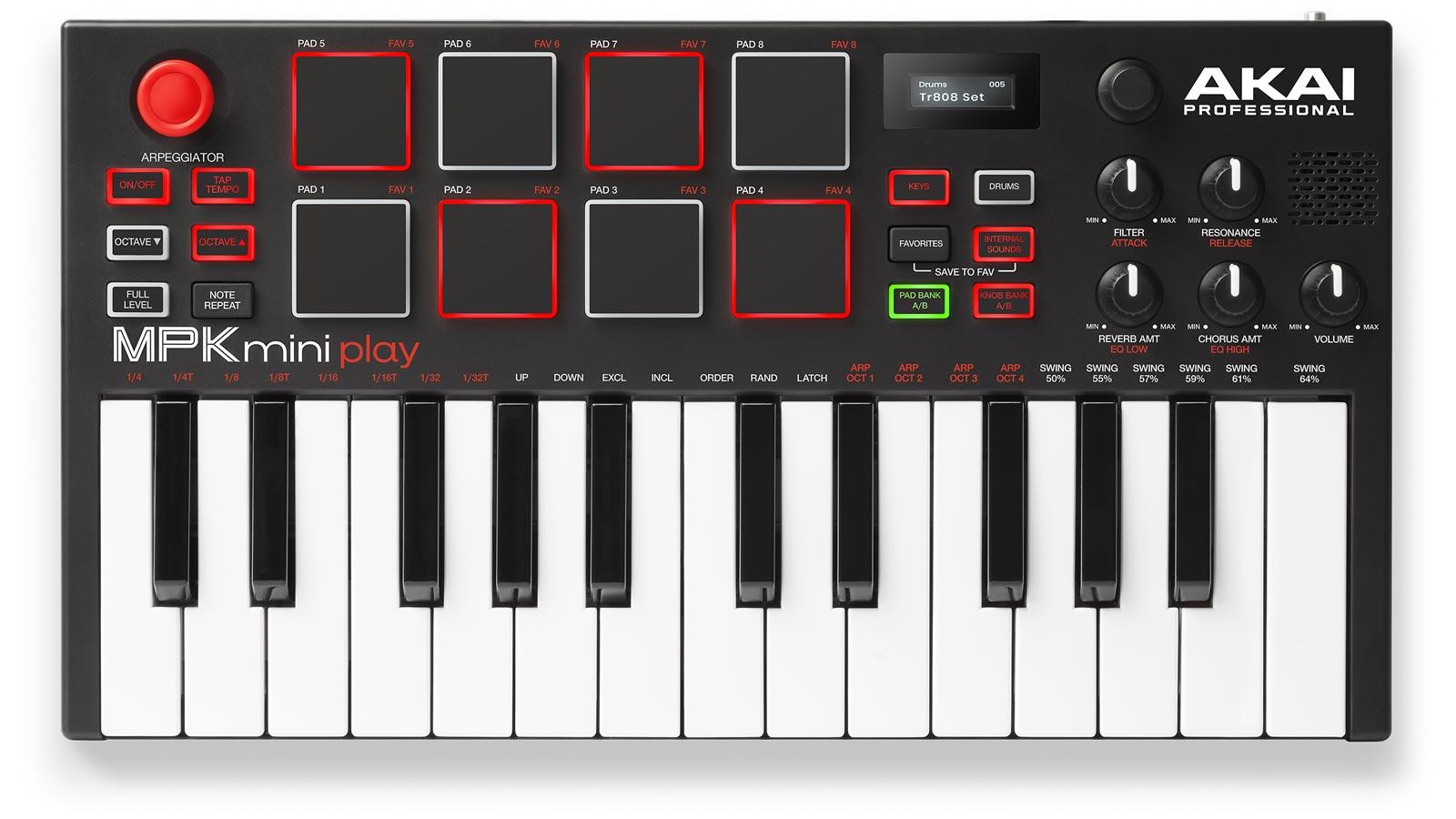 Akai MPK mini Play Standalone USB-MIDI Keyboard