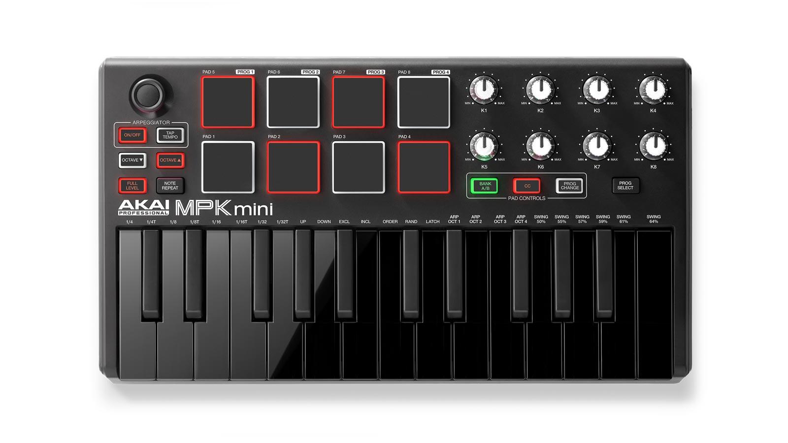 Akai MPK Mini MKII Keyboard Controller LE schwarz