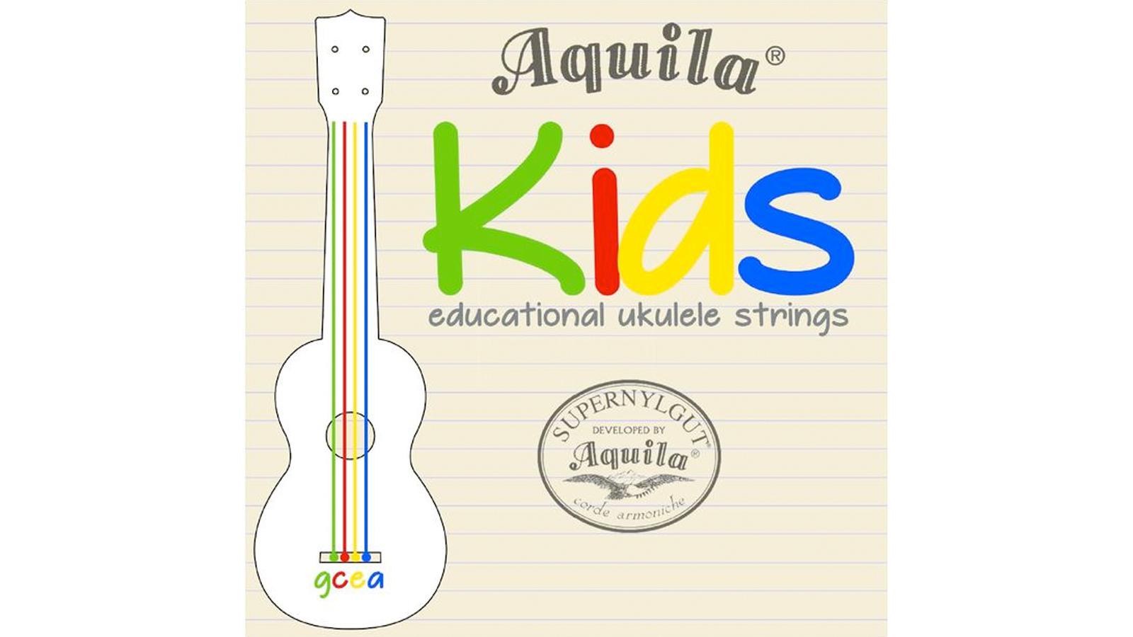 Aquila Kids Multi Color Educational Ukulele Saiten