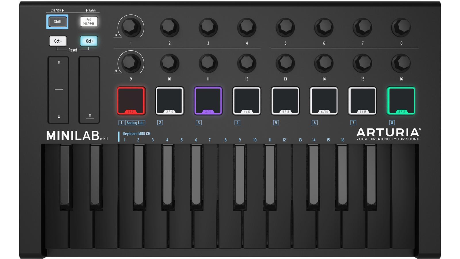 Arturia Mini Lab Mk2 DEEP BLACK EDITION
