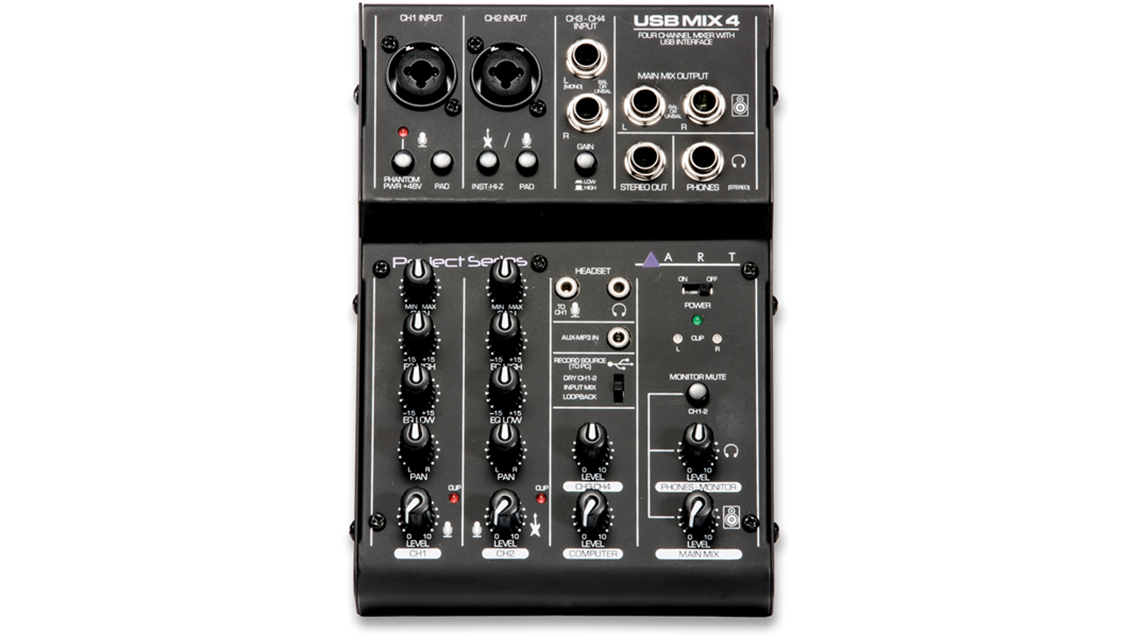 ART USBMix4 Mischpult USB Audio Interface