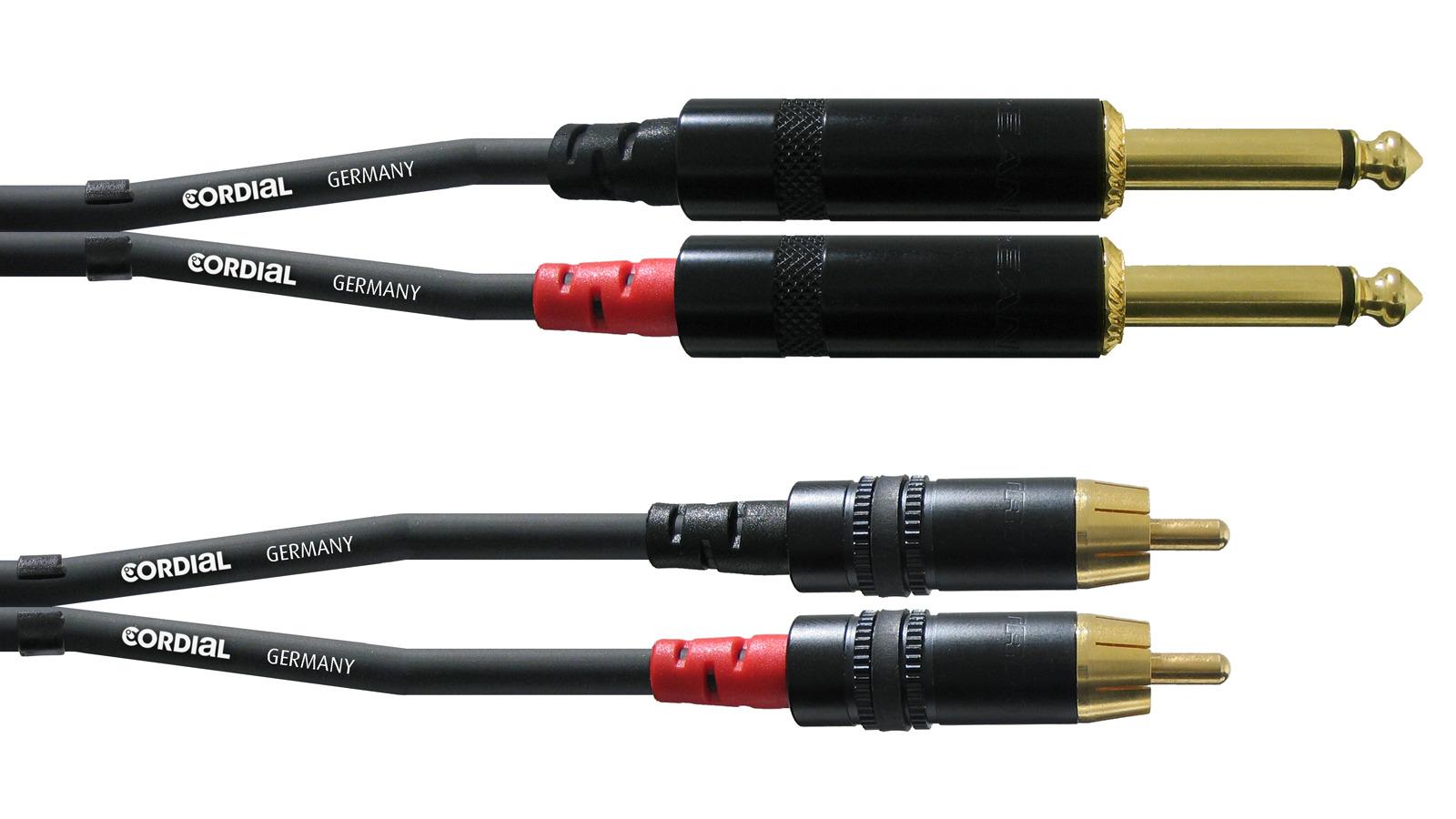 Cordial 2 x Klinke Mono auf 2 x Cinch 3 m Kabel CFU3PC