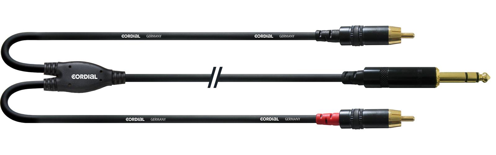 Cordial CFY 6 VCC Y-Adapterkabel Klinke Cinch 6 m