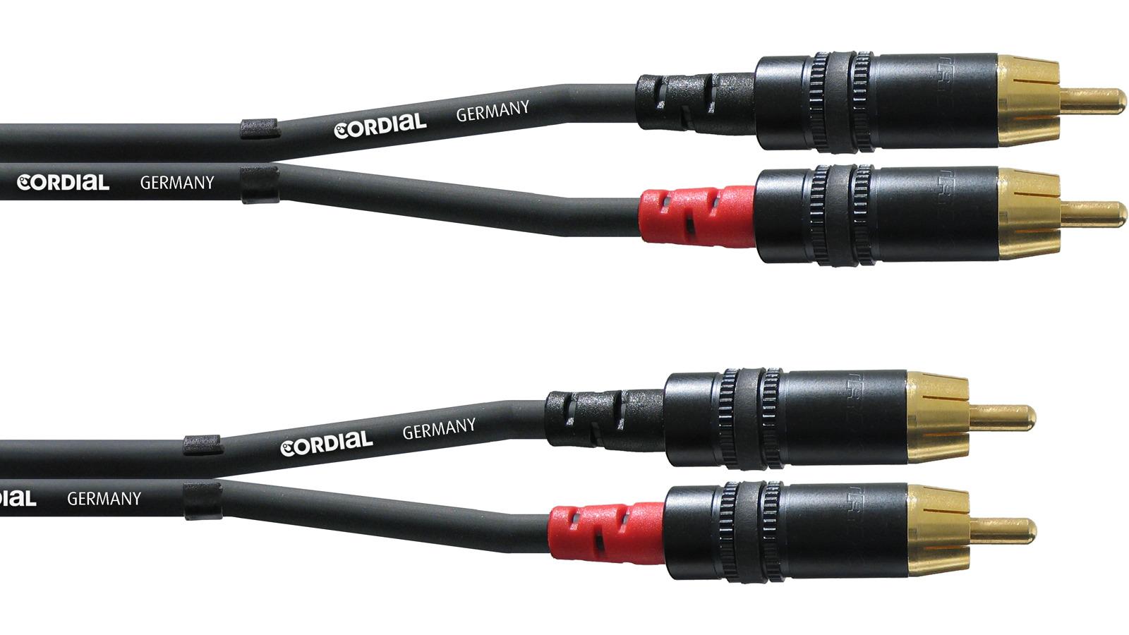 Cordial CFU 1,5 CC Twin Kabel Cinch 1,5 m
