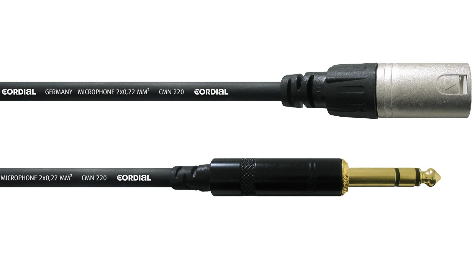 Cordial CFM 3 MV symmetrisches Kabel Klinke-XLR male 3 m