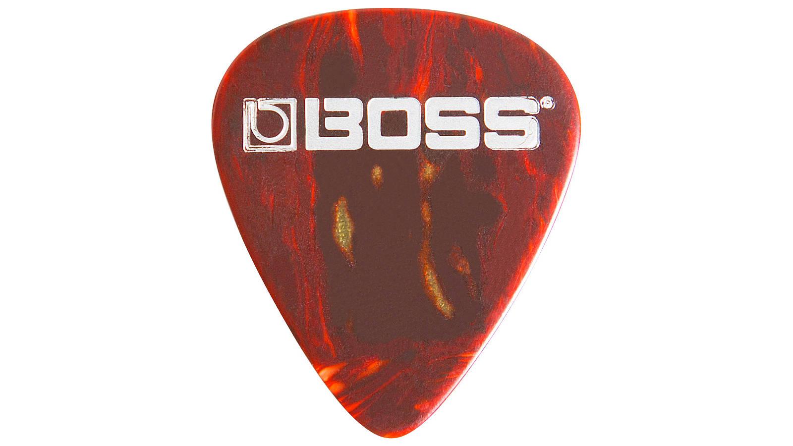 Boss BPK-12-ST dünne Zelluloid-Gitarrenplektren 12 Stück Shell