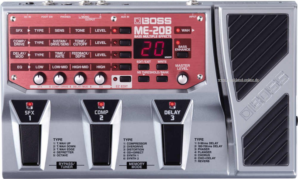 Boss ME-20 B Bass Multieffekt