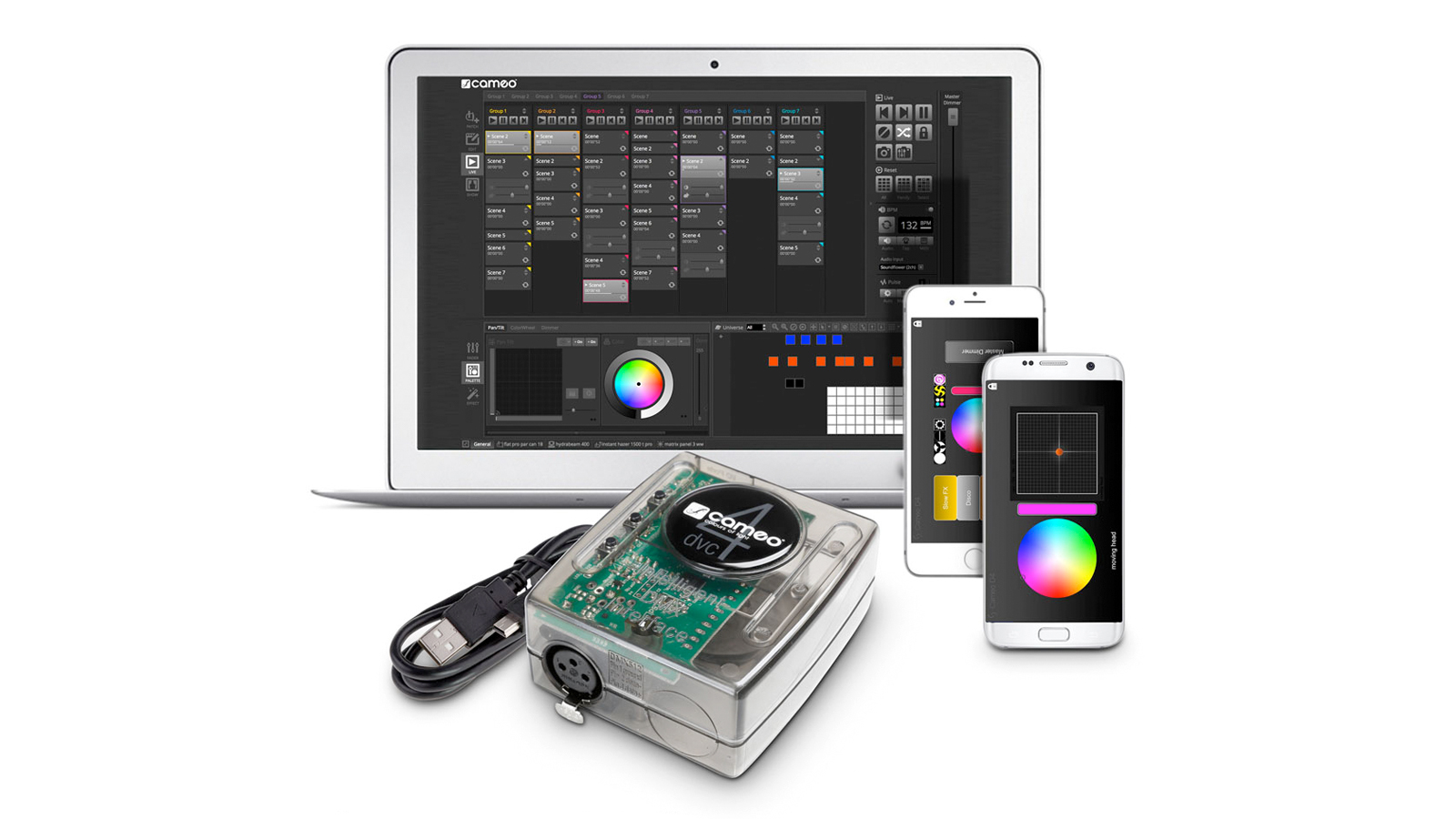 CAMEO DVC 4 DMX-Interface und Steuersoftware