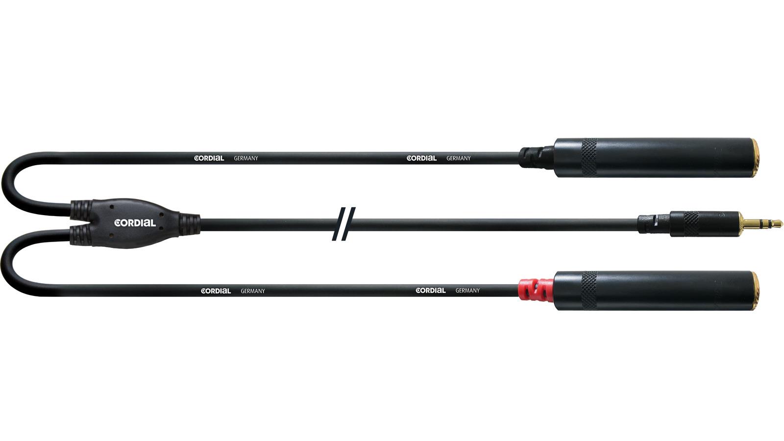 Cordial CFY 0,3 WGG Y-Adapter Kabel Klinkenbuchse Mini-Klinke