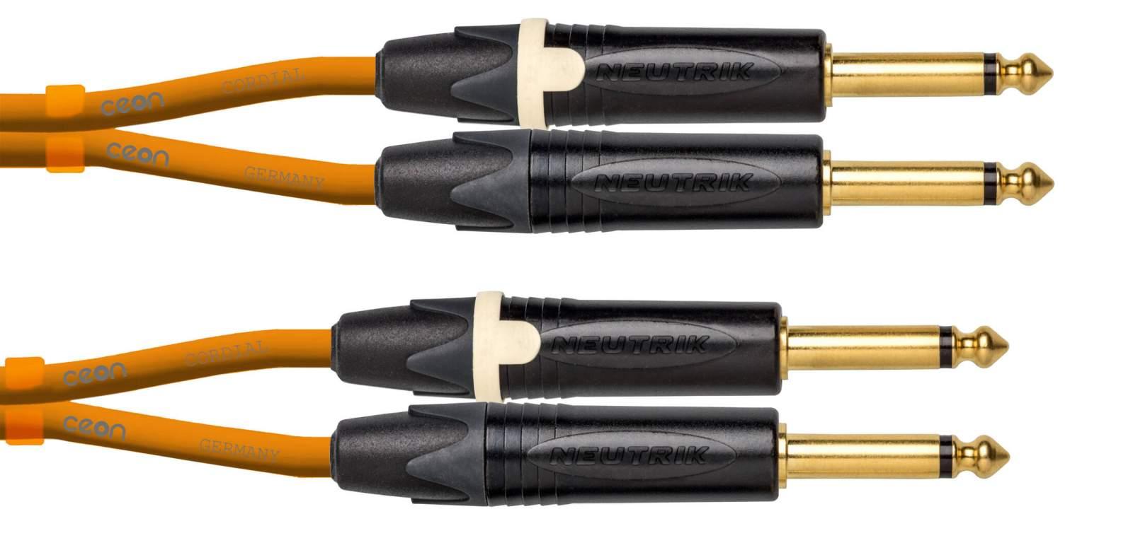 Cordial CEON DJ PLUG 15 Orange Kabel 1,5m