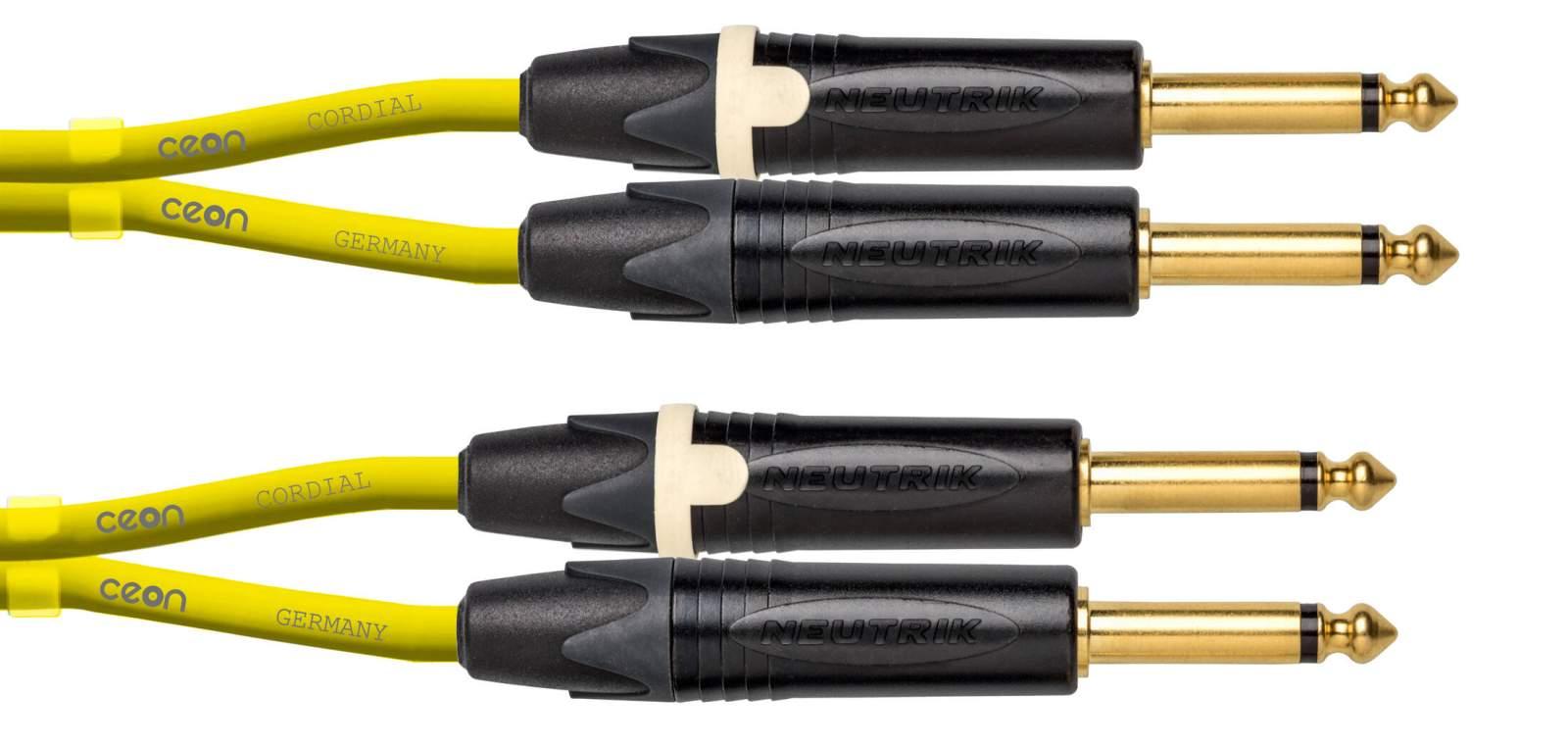Cordial CEON DJ PLUG 15 Yellow Kabel 1,5m