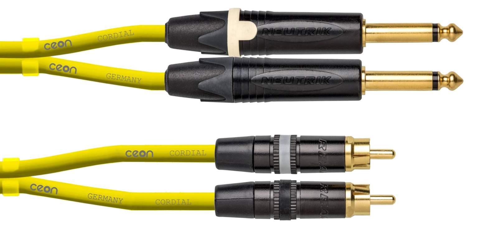 Cordial CEON DJ PLUG-RCA 15 Yellow Kabel 1,5m