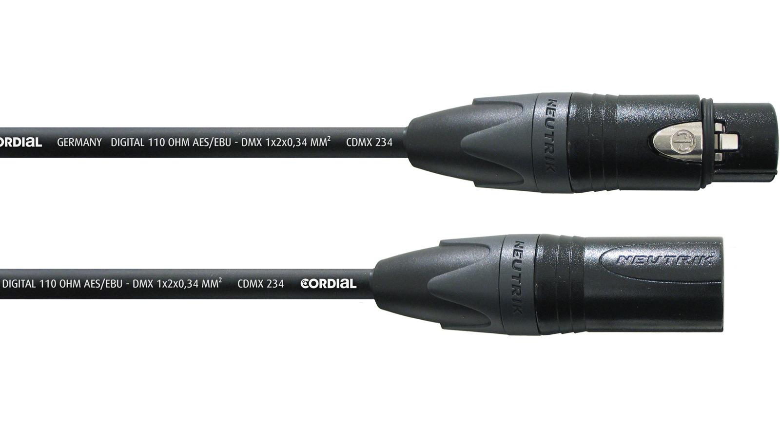 Cordial AES/EBU DMX Kabel 1 m CPD 1 FM