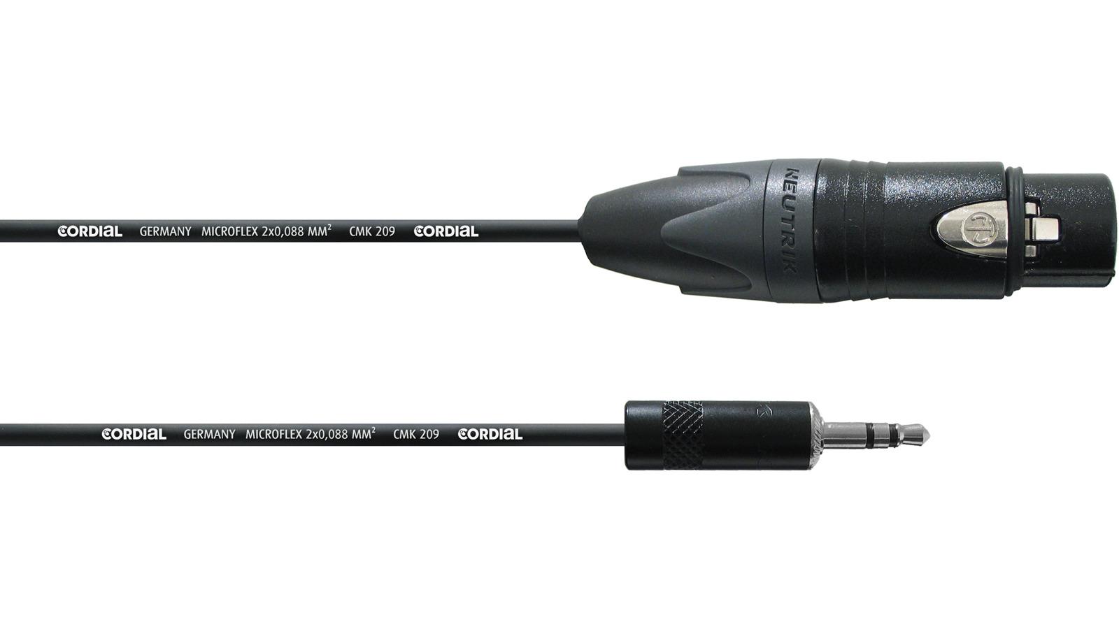 Cordial CPM 3 FW-UNB Mini Klinke XLR Kabel 3 m