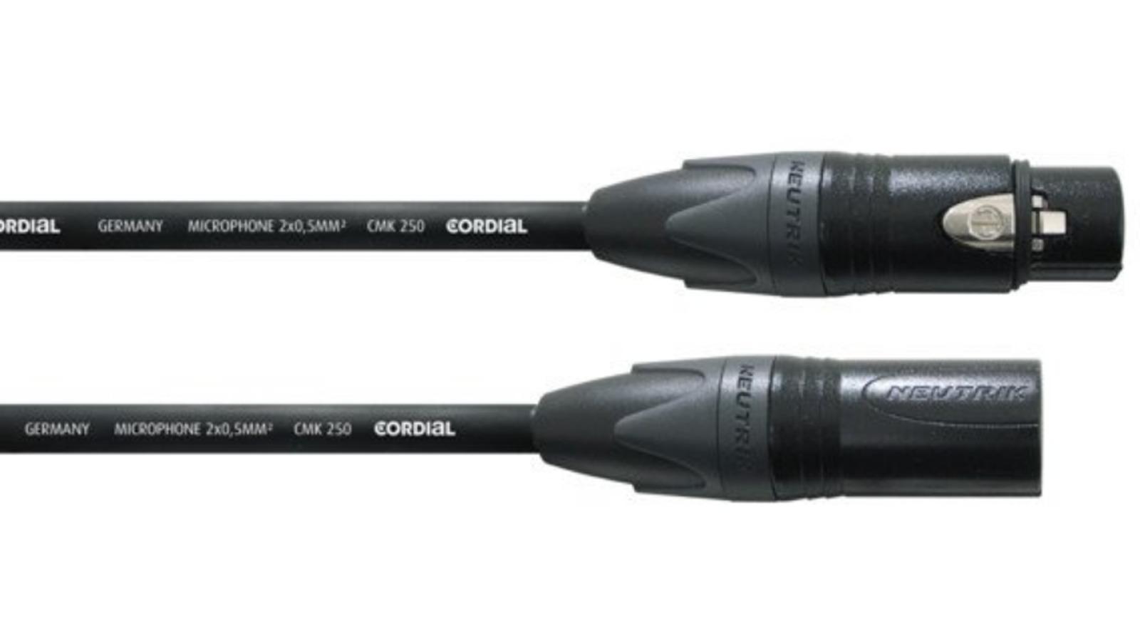 Cordial CSM 10 FM Gold 250 Mikrofon Kabel Studio 10 m