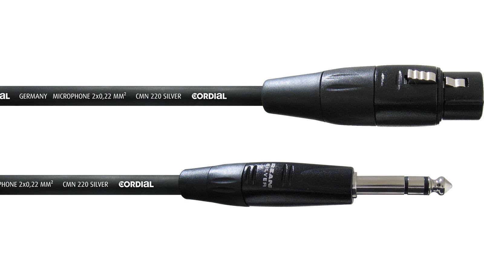 Cordial symmetrisches Klinke XLR female Mikrofonkabel 1,5 m CIM1,5FV