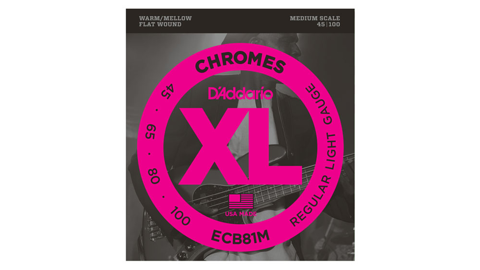 D'Addario ECB81M Chromes Medium Bass 045-100