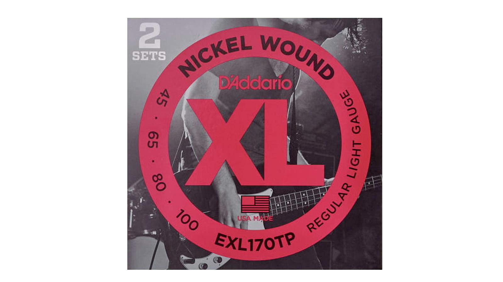 D'Addario EXL-170TP Nickel E-Bass Saiten Twin Pack
