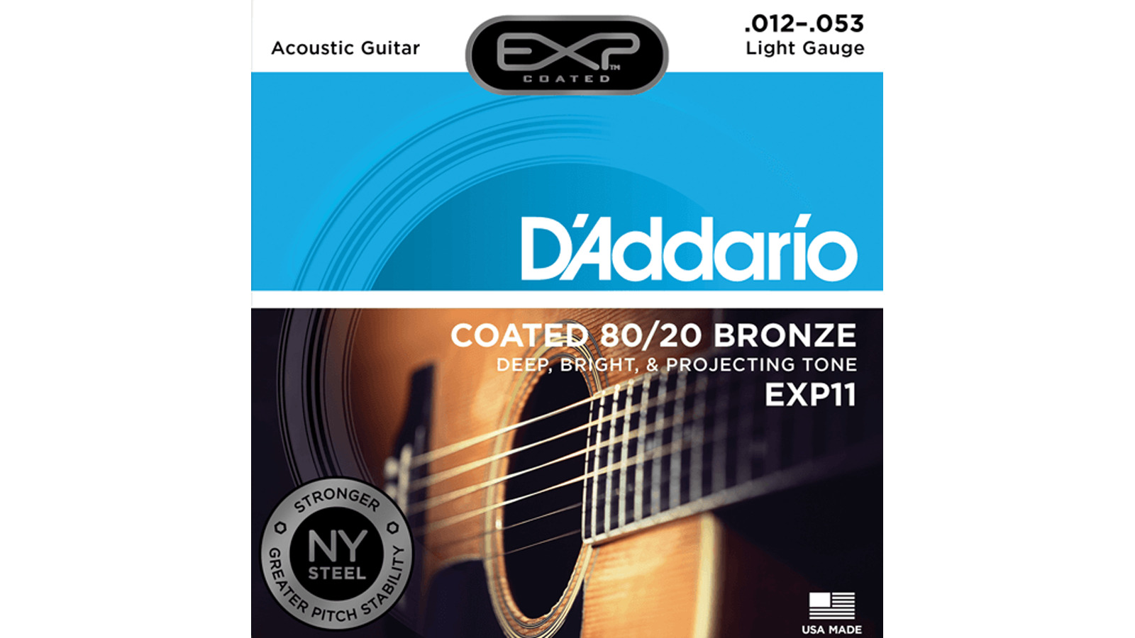 D'Addario EXP11 80/20 Light 12-53