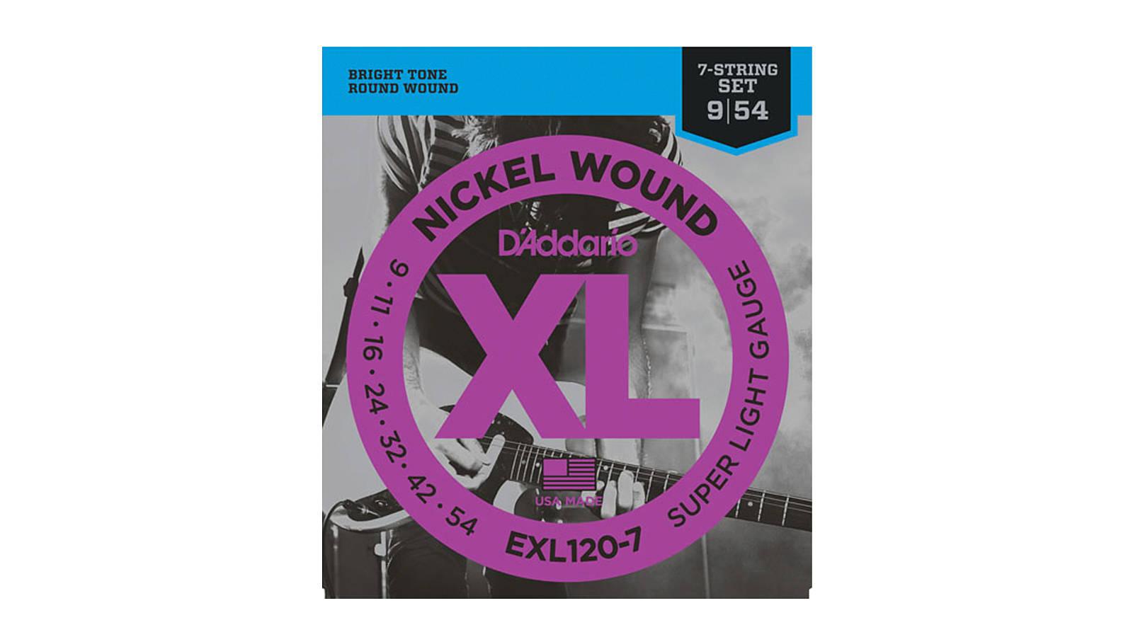 D'Addario EXL120-7 Nickel E-Gitarren Saiten 7-Saiter