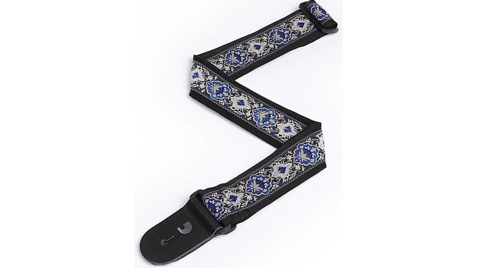 D'Addario 50J00 Gitarren Gurt JAQUARD BLUE