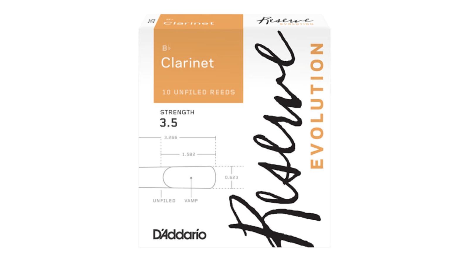 Daddario Reserve Evolution 3,0 Klarinette Bb Blätter