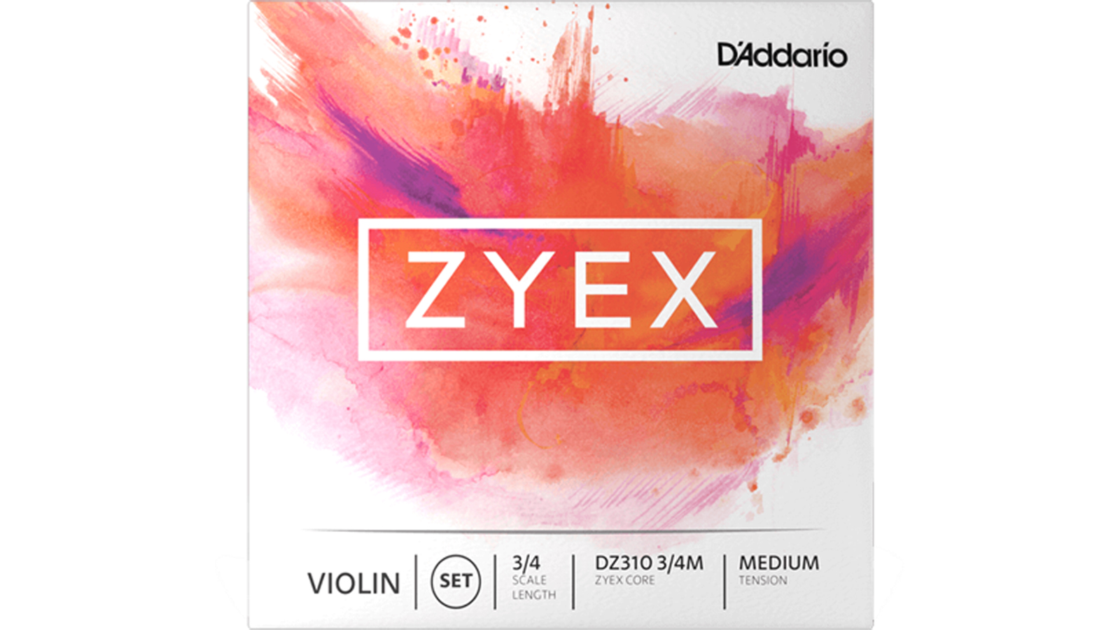 Daddario Zyex Violin Saiten 3/4 Scale Medium Tension