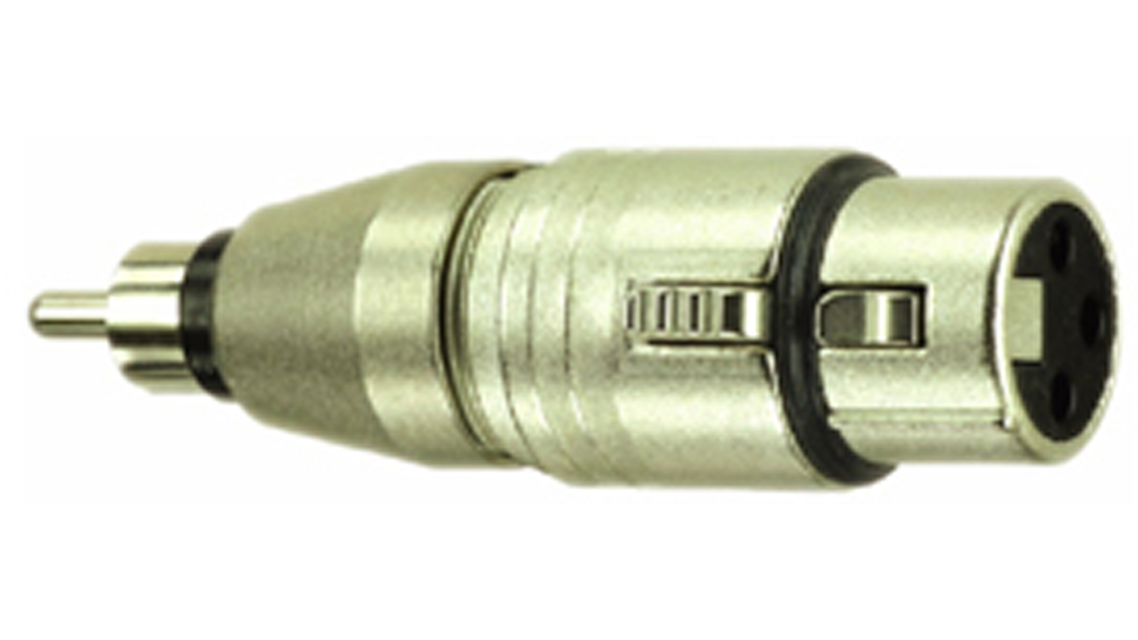 DreiTec Cinch Stecker XLR female Adapter 1643