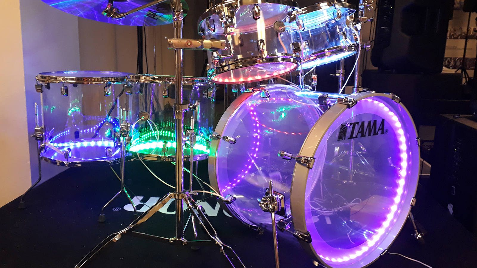 Drumlight Set LED Trigger Schlagzeugbeleuchtung