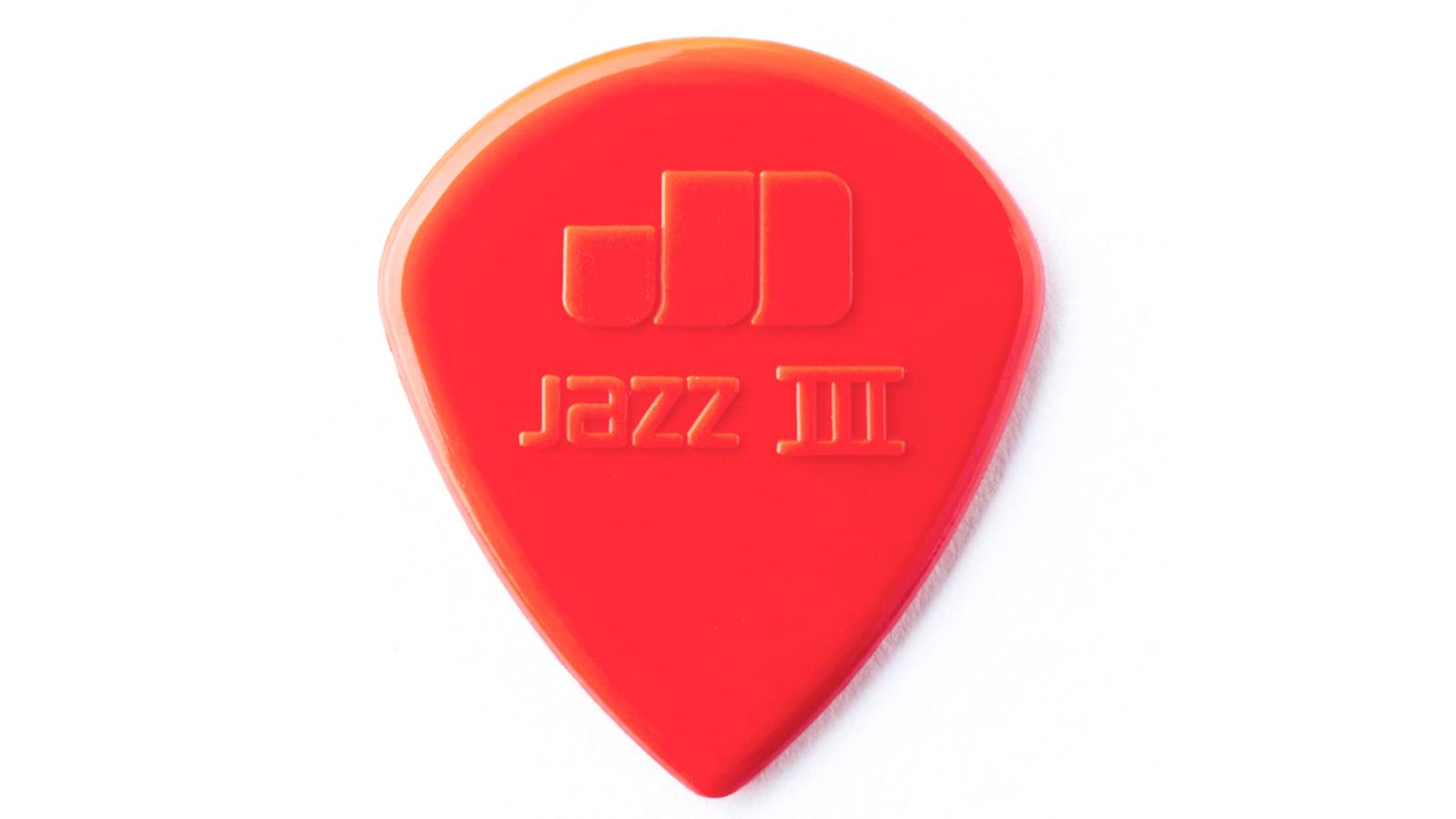 Dunlop Nylon Jazz III Plektrum rot