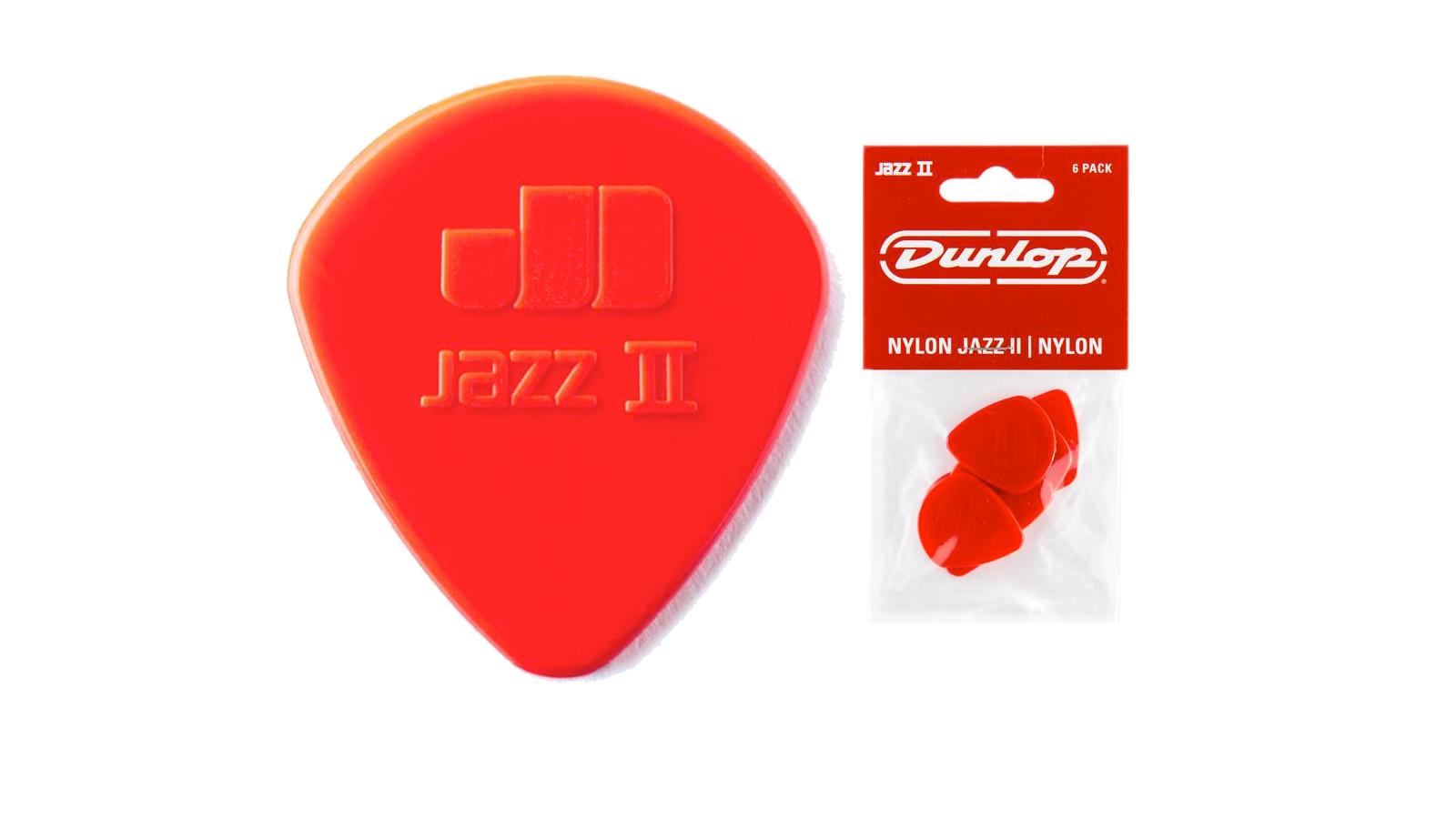 Dunlop Nylon Jazz II Plektrum 1,18 mm 6 Stück rot