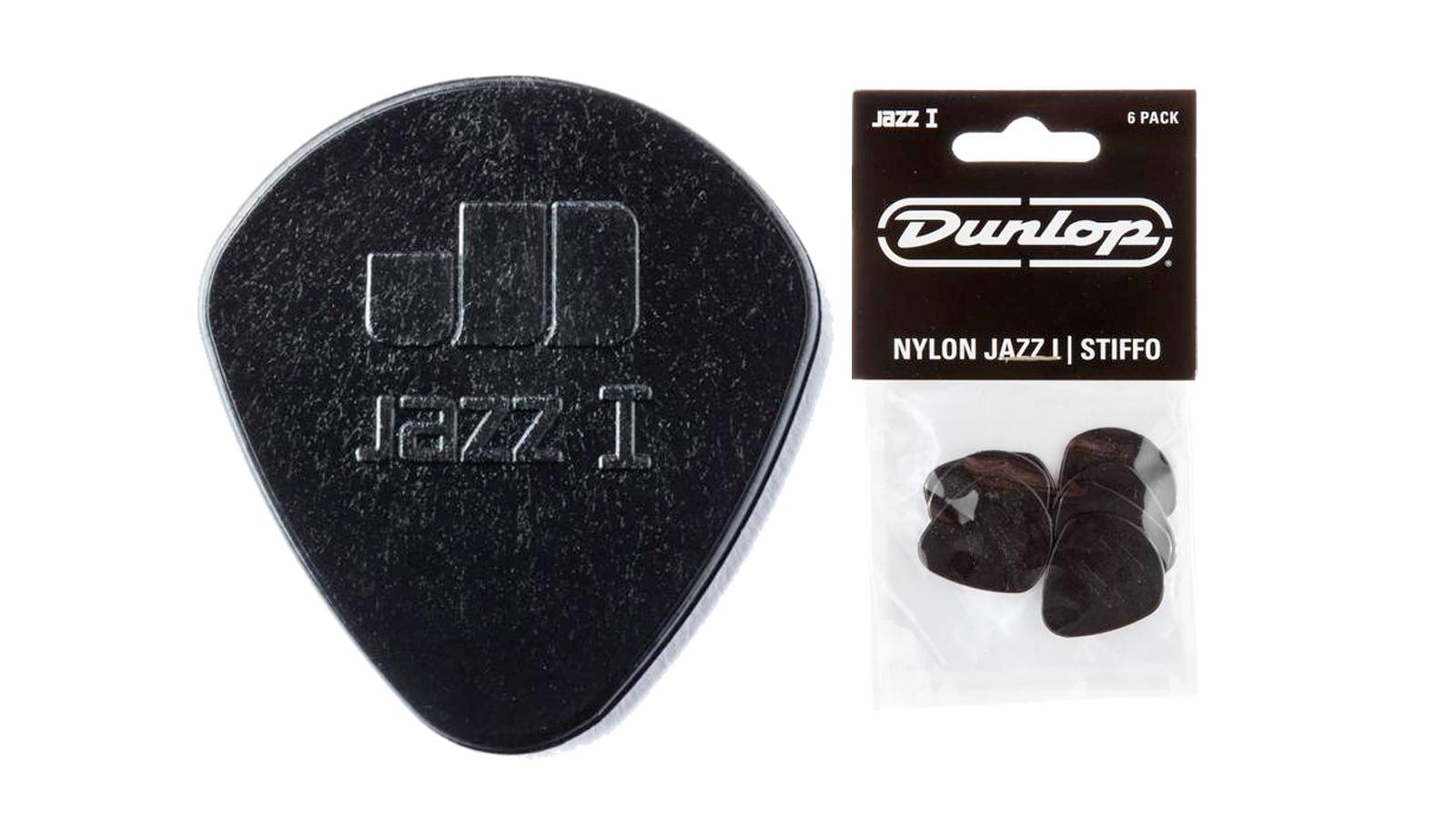 Dunlop Stiffo Jazz I Plektrum 1,1 mm 6 Stück schwarz