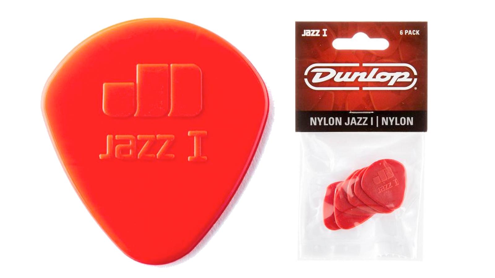 Dunlop Nylon Jazz I Plektrum 1,1 mm 6 Stück rot