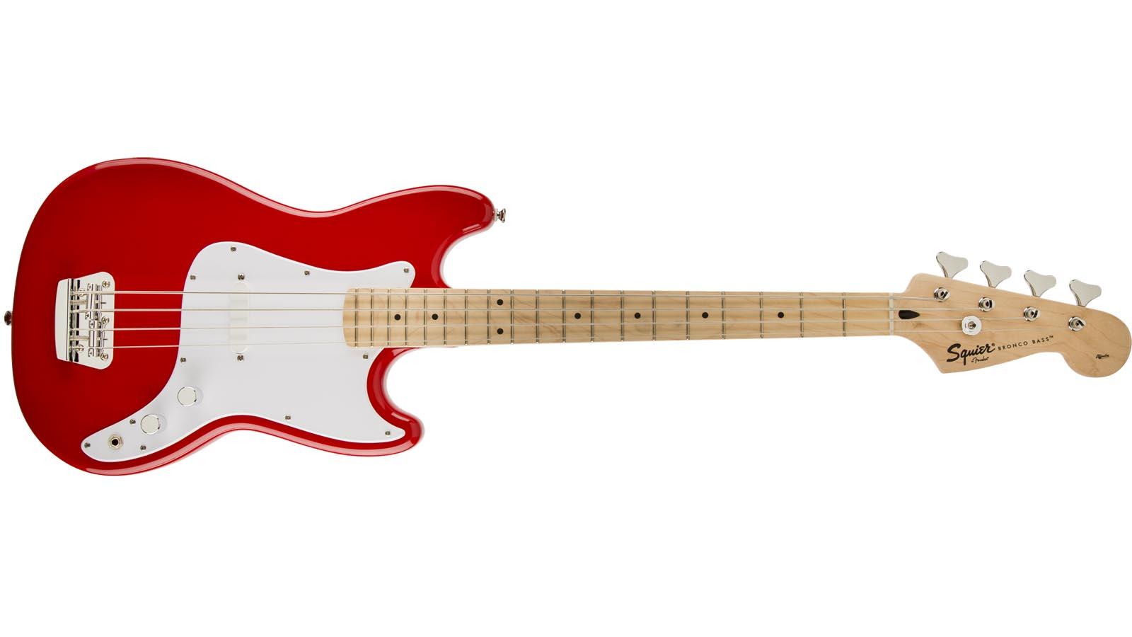 Fender Squier Bronco Bass Torino Red