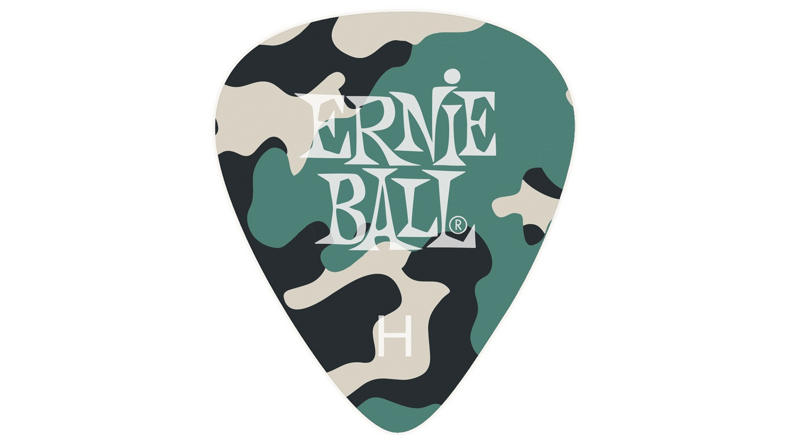 Ernie Ball EB9223 Celluloid Picks Camo 12er Set Heavy