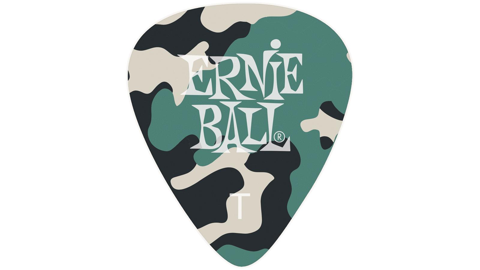 Ernie Ball EB9221 Celluliod Picks Camo 12er Thin