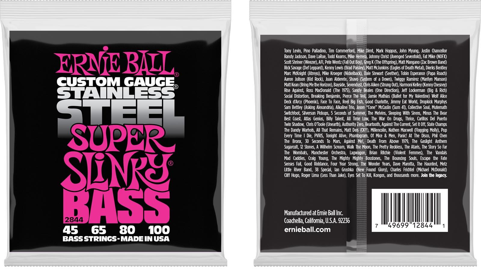 Ernie Ball EB-2844 Stainless Steel Super Bass Saiten 045-100