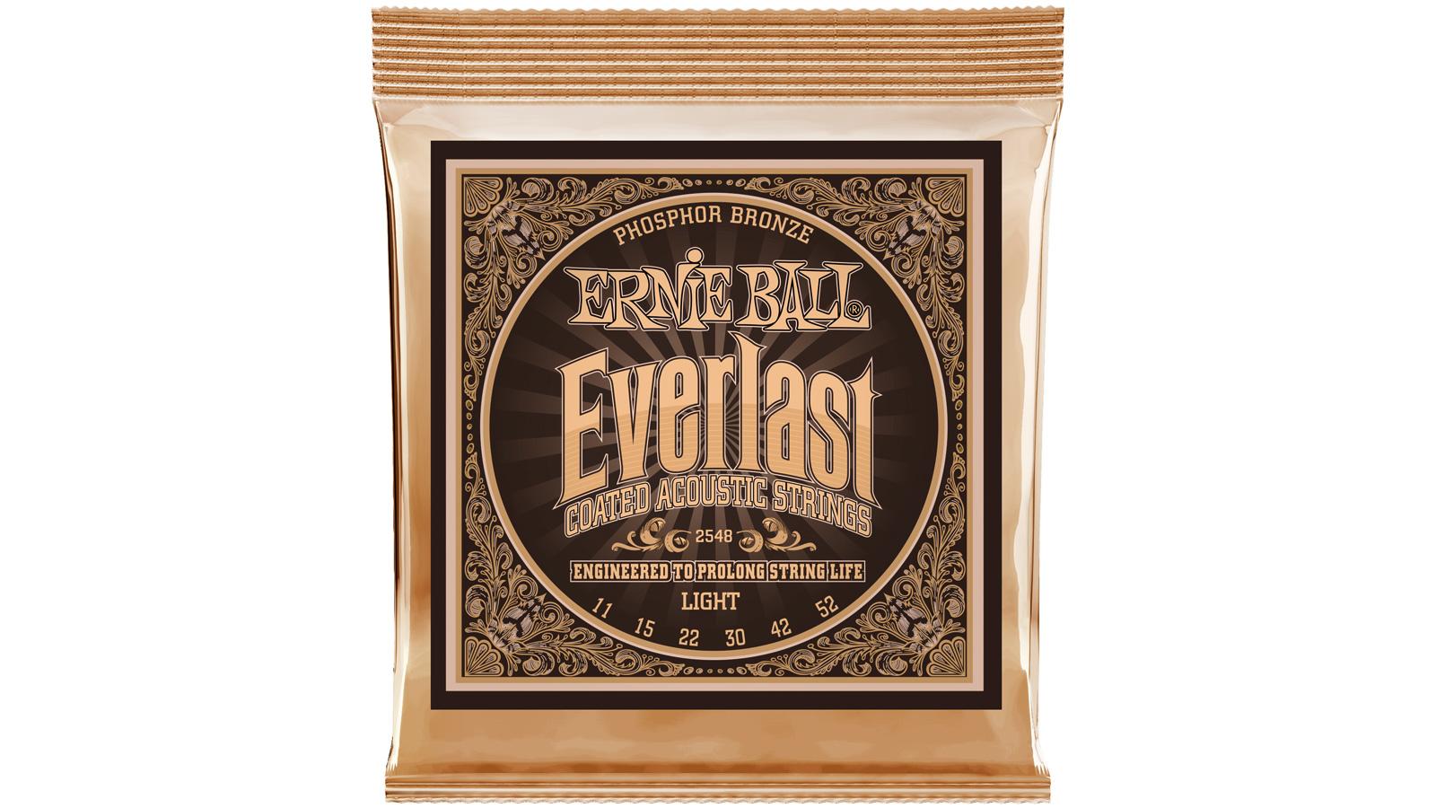 Ernie Ball EB2548 Everlast Phosphor Bronze Akustiksaiten 011-052