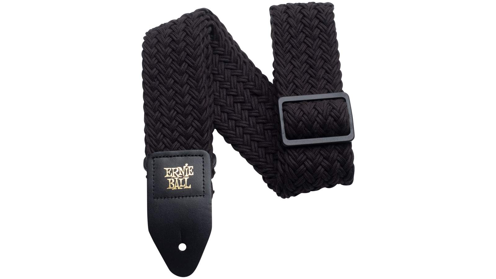 Ernie Ball EB4148 Gitarren Gurt Black Polyspun