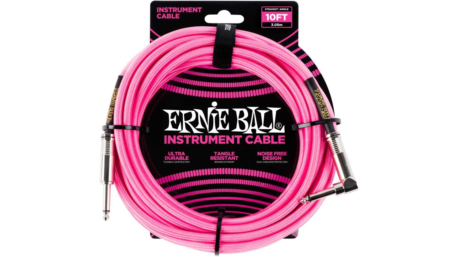 Ernie Ball EB6078 Instrumentenkabel 3m Pink