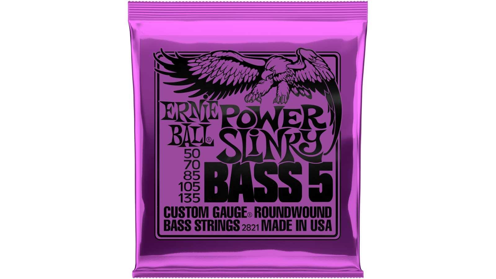 Ernie Ball EB-2821 Slinky Bass 5-String Saiten 50-135