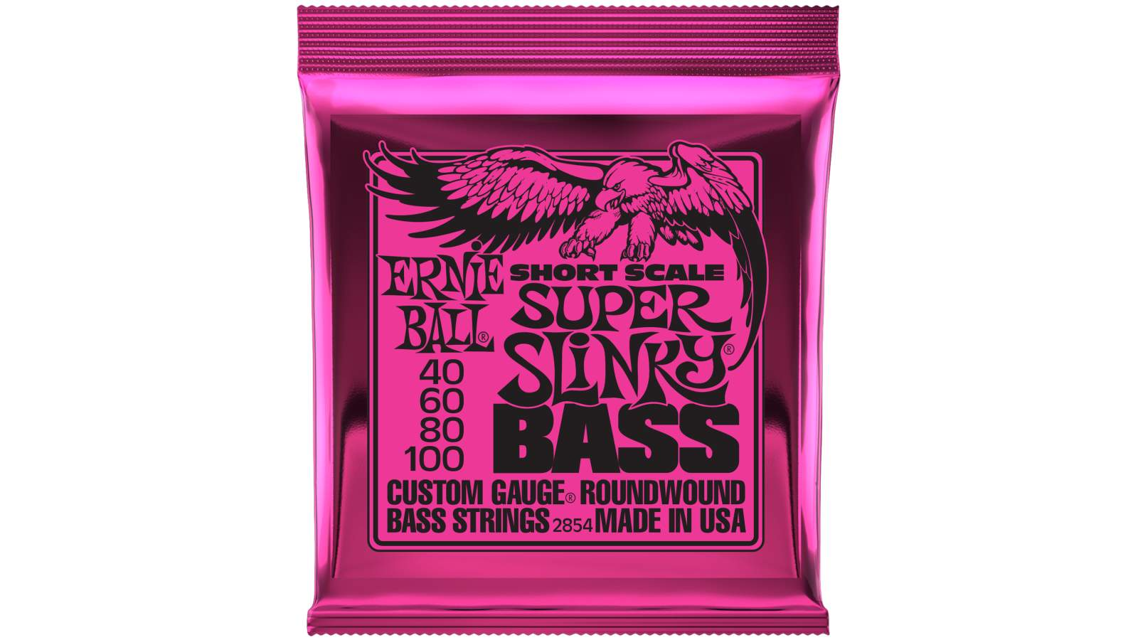 Ernie Ball EB-2854 Super Slinky Bass Saiten Short Scale 040-100