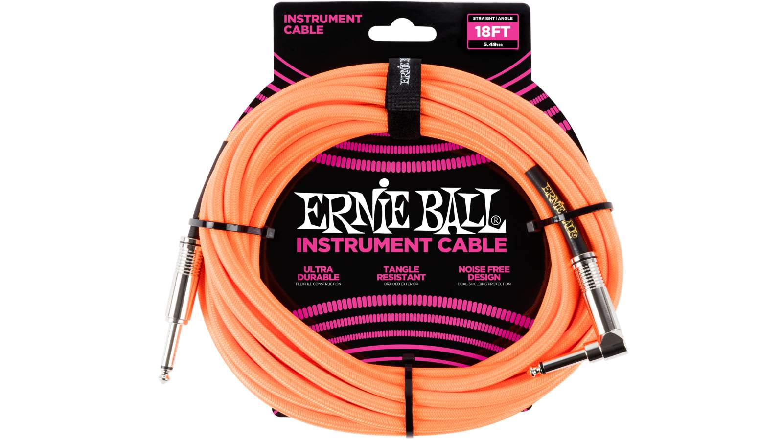 Ernie Ball EB6084 Instrumentenkabel 5,48m Orange